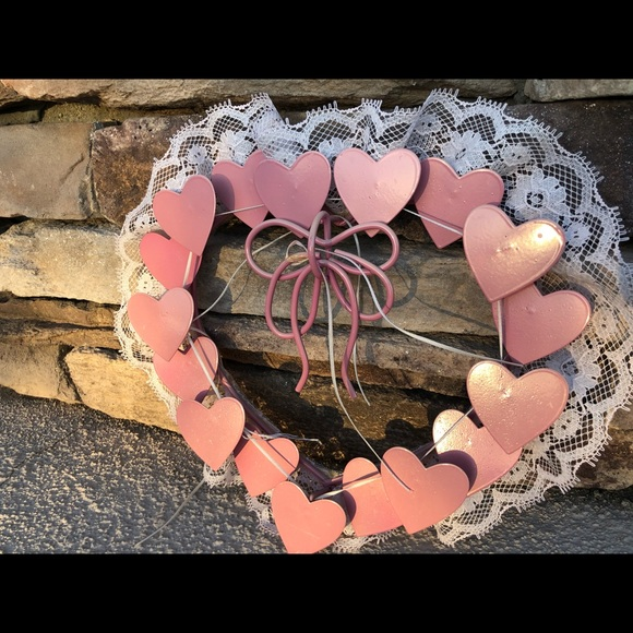 Pink heart wall decor